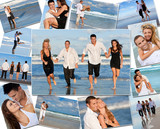 Happy Friends & Couples Holiday Beach Montage
