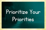 prioritize your priorities poster