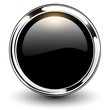 Black button glossy metallic.