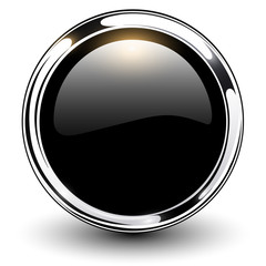 Black button glossy metallic.