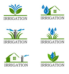 An illustration of Irrigation icons