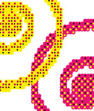 Creative halftone dotted background.