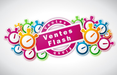 Ventes Flash - Illustration vectorielle