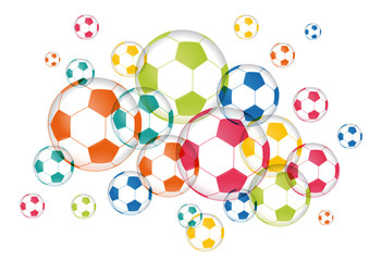 Ballons de foot multicolores