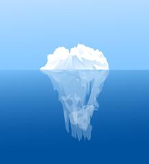 Beauty of Iceberg in Antarctica-vector