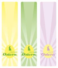 frohe ostern strahlen banner hoch