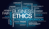 Business ethics corporate ethical word tag cloud