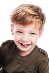 Happy Boy Smiling at Camera.