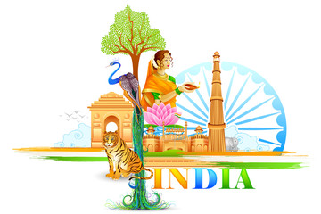 vector illustration of India Wallpaper
