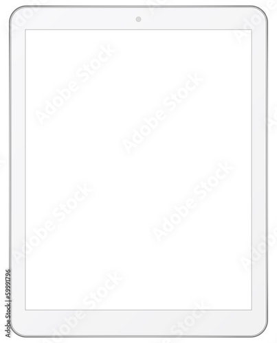 White Business Tablet Isolated