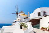 Fototapeta View of Fira town - Santorini island,Crete,Greece.