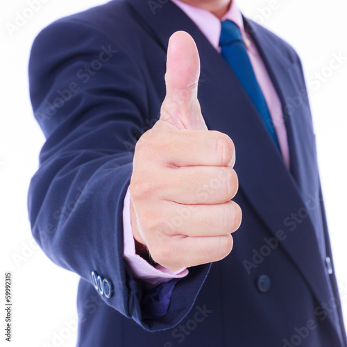 business man with thumb up