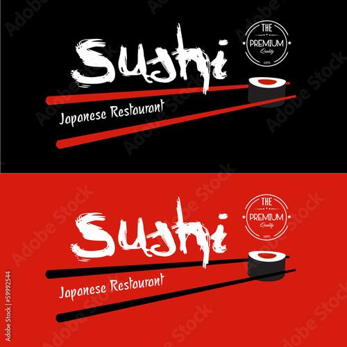 Sushi Japanese Restaurant design template - 59992544