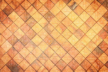 brown mosaic for background