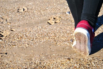 Un paseo en playa