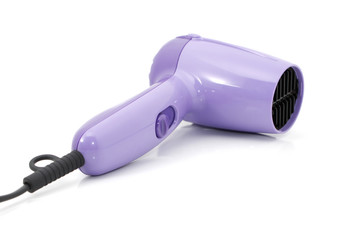 Hair dryer over white background