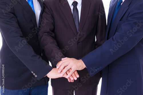 business man holding hand