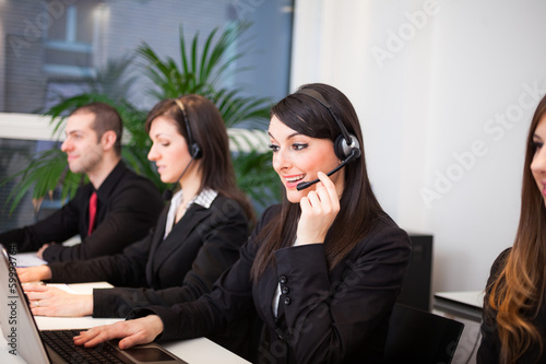 Customer representatives at work
