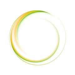 Colourful vector ring logo