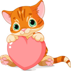 Valentines Day Kitten