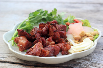 Deep fried Fermented pork rib
