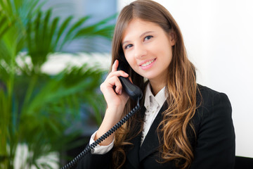 Businessowoman at the phone