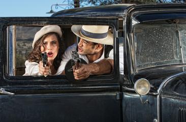 1920s Era Criminals Shooting