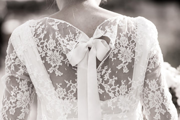 Dos de mariée