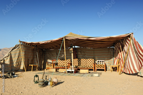 Bedouin tent in the desert of Wadi Rum
