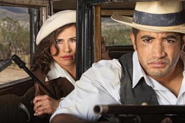 Tough 1920s Gangster Couple