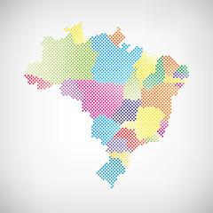Brasilien Bundesstaaten Karte  Punkte