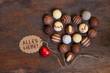 Herz aus Schokolade - Alles Liebe
