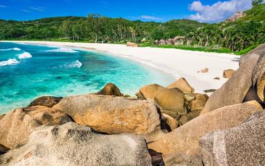 Grande Anse beach, La Digue island, Seyshelles