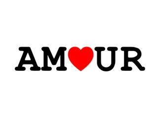 """Mot """"AMOUR"""" (carte saint valentin déclaration cœur je t'aime)"""