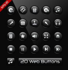 Media Player Icons // Black Label Series