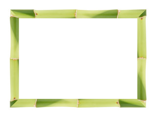 Frame made from lucky bamboo stalks