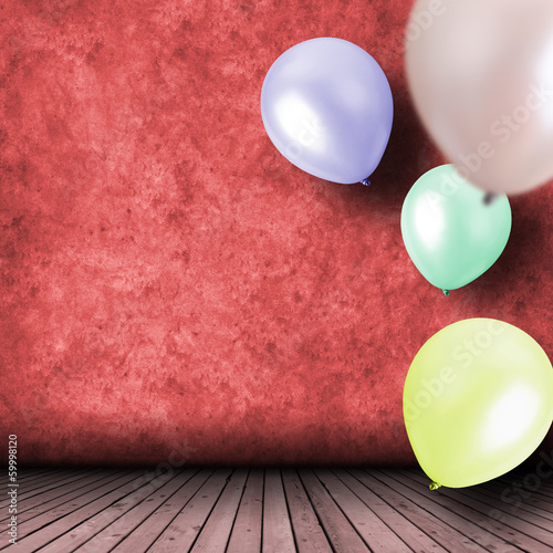 Celebration with balloons