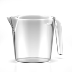 Empty measuring cup