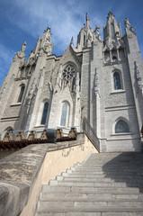 Tibidabo temple.Barcelona.Spain