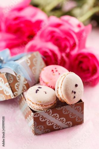 Papiers peints Macarons sweet presents