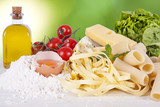 natural ingredients of the Mediterranean diet balanced