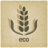 organic grain old background - vector illustration poster