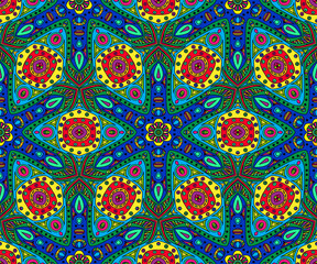 kaleidoscope color seamless pattern - vector illustration