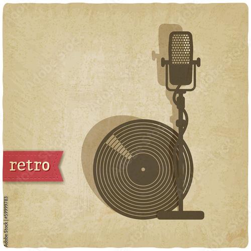 alter-hintergrund-mit-mikrofon-und-rekord-vektor-illustration
