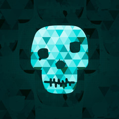 Colorful geometric skull.