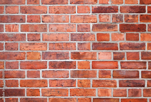 Detailed red brick wall background photo texture