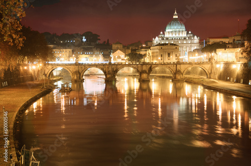 Rome Nightscape: The Vatican Seen From the Tiber