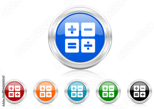 calculator icon vector set