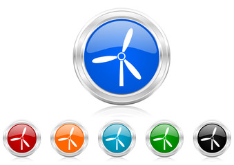 windmill icon vector set