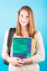 Young Female Teen Student